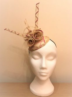 Ella Bespoke Fascinator made by Oana Millinery