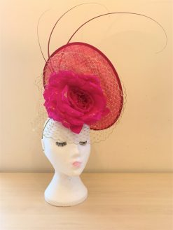 Eva Fuchsia Bespoke Hat made by Oana Millinery