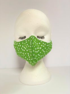 Face Mask Women Green by Oana Millinery