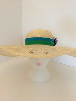 Fancy Straw Hat Claire by Oana Millinery