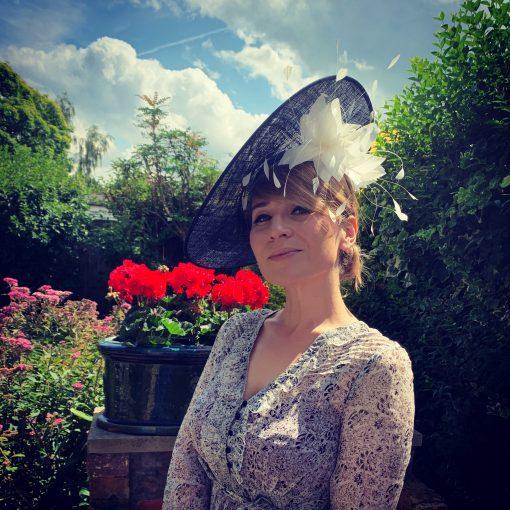 Kate Navy Blue Fascinator by Oana Millinery