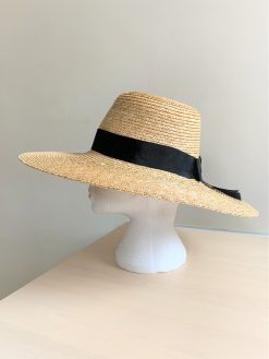 Lucy Straw Bespoke Hat made by Oana Millinery