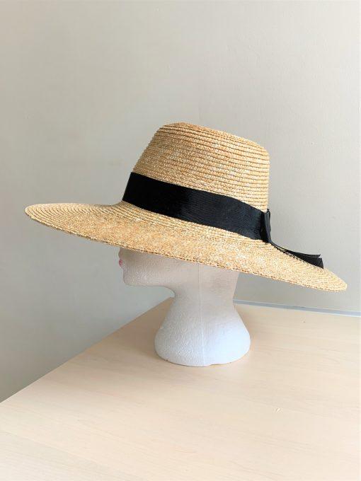 Lucy Straw Bespoke Hat made by Oana Millinery