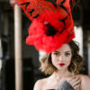 Hot Poppy Fascinator