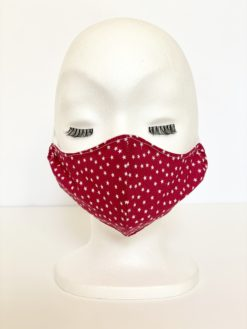 Fitted Washable Red Women Face Mask by Oana Millinery