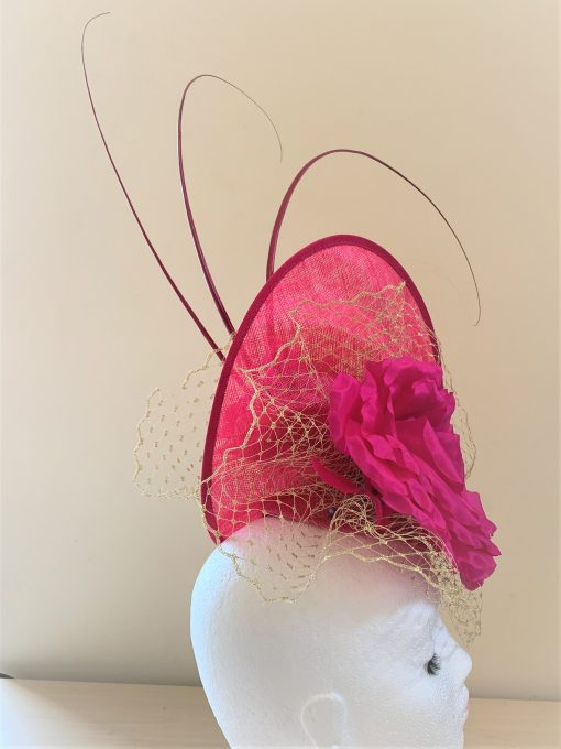 Eva Fuchsia Bespoke Hat made by Oana Millinery