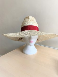 Hannah Fancy Straw Bespoke Hat made by Oana Millinery