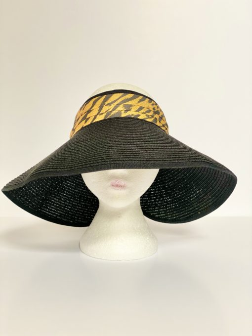 paper straw hat no top oana millinery animal print var 2 2