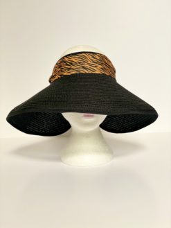 paper straw hat no top oana millinery animal print var1 2