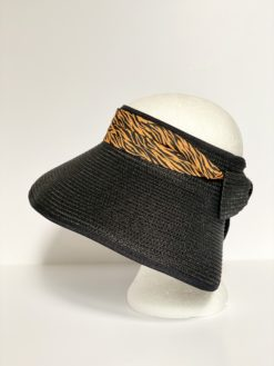 paper straw hat no top oana millinery animal print var1 3